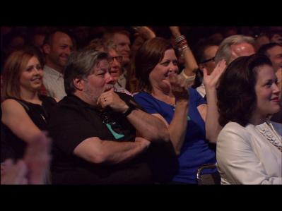 Wozniak was speechless! :D